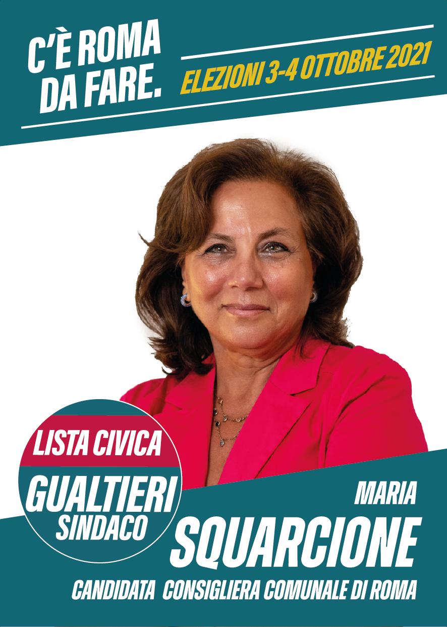 Biglietto Comunali 2021 Maria Squarcione - fronte